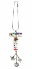 Ganz Car Charms Color Art Monogram Letter - T