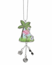 Ganz Car Charms - Flamingo with Color