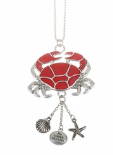 "Ganz Car Charms - ""Fun-in-the-Sun"" Crab with Color"