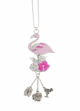 "Ganz Car Charms - ""Fun-in-the-Sun"" Flamingo with Color"