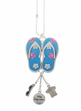 "Ganz Car Charms - ""Fun-in-the-Sun"" Flipflops with Color"