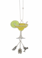 "Ganz Car Charms - ""Fun-in-the-Sun"" Margarita Charm with Color"