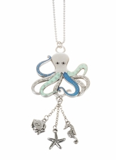 "Ganz Car Charms - ""Fun-in-the-Sun"" Octopus with Color"