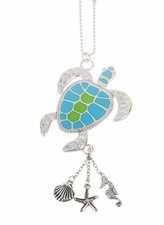 "Ganz Car Charms - ""Fun-in-the-Sun"" Sea Turtle with Color"