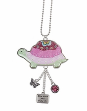 Ganz Car Charms - Happy Thoughts Turtle - Slow Down and Enjoy Life