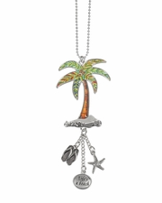 Ganz Car Charms - Palm Tree with Color