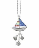 Ganz Car Charms - Sail Boat with Color