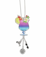 Ganz Car Charms - Tropical Drink with Color