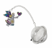 Ganz Charming Tea Infusers - Angel and Heart with Colored Enamel