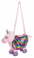 Ganz Childrens Unicorn Purse with Reversable Sequins - 13""