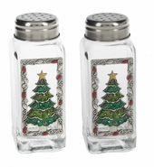 Ganz Christmas Tree Salt and Pepper Shakers with Color