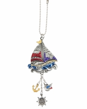 Ganz Color Art Car Charms - Sailboat