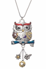 Ganz Car Charms - Color Art Owl