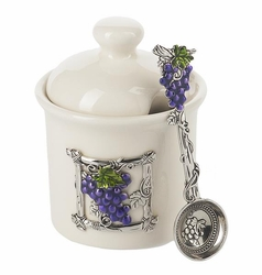 Ganz Condiment Jar with Spoon - Grapes