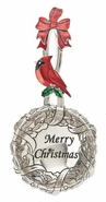 Ganz Everything Spoons - Christmas Wreath with Cardinal