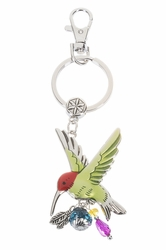 Ganz Hummingbird Key Rings with Colored Enamel