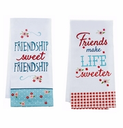 "Ganz ""Life is Sweet"" Kitchen Guest Towels - Set of 2"