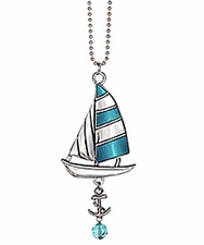Ganz Nautical Car Charms - Sailboat