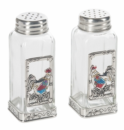 Ganz Salt and Pepper Shakers - Roosters with Color