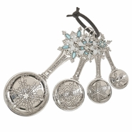 Ganz Measuring Spoons - Snowflakes with Color