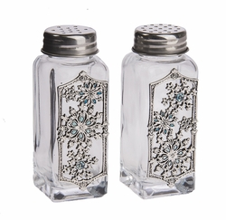 Ganz Salt and Pepper Shakers - Snowflakes with Color