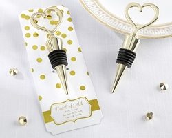 Kate Aspen Heart of Gold Bottle Topper Stopper