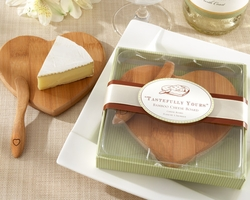 Heart Shaped Bamboo Mini Cheese Board