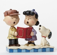 "Jim Shore Peanuts - Charlie Brown, Lucy and Snoopy ""Peace on Earth"""