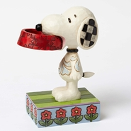 Jim Shore Peanuts - Snoopy Holding Dog Dish