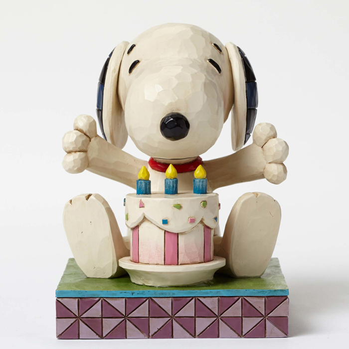 Jim Shore Peanuts Snoopy with Birthday Cake 4049417 Hearts