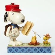 Jim Shore Peanuts - Snoopy & Woodstock Campfire