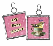 Primitives by Kathy Pendant Charm - Joy Hope and Wonder
