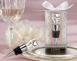 "Kate Aspen ""LOVE"" Chrome Bottle Topper Stopper"