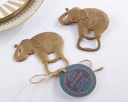 Kate Aspen Lucky Golden Elephant Bottle Opener