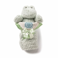 Kathy Ireland Sage Plush Frog & Baby Blanket Set
