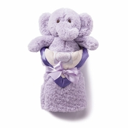 Kathy Ireland Lilac Plush Elephant & Baby Blanket Set