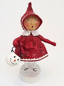 Lori Mitchell Bundled Up Brenna Christmas Figurine