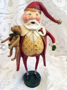 Lori Mitchell Christmas Cheer Santa Figurine