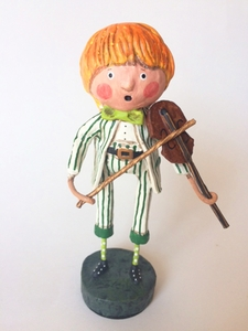 Lori Mitchell Frances the Fiddler St. Patrick's Day Figurine