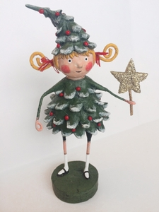 Lori Mitchell Jolly Holly Christmas Tree Figurine