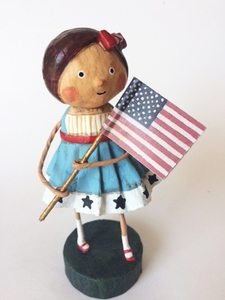 Lori Mitchell Little Betsy Ross Patriotic Figurine
