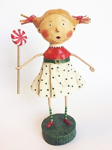 Lori Mitchell Peppermint Patti Christmas Figurine