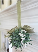 Ganz Mistletoe Door Decor Kissing Ball - White Pearl 5""