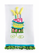 Mud Pie Birthday Cake Linen Towels