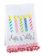 Mud Pie Birthday Candles Linen Towel
