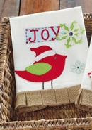 Mud Pie Christmas Tea Towels - Joy