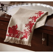 Mud Pie Christmas Tea Towels - Santa Sleigh