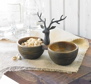Mud Pie Deer Mini Double Dip Cup