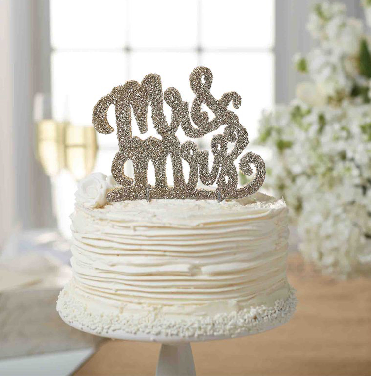 Mud Pie Mr Mrs Wedding Cake Topper