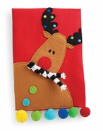 Mud Pie Reindeer Linen Tea Towels